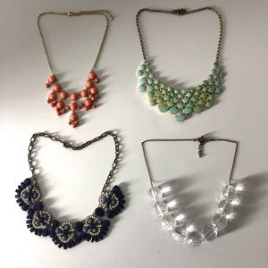 Lot of 4 Statement Necklaces